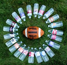 SEC College Football water bottle labels - Auburn, Alabama, LSU, Ole Miss, Vanderbilt, UK, USC, UGA, Arkansas, Tennessee, Florida  - dress your water bottles up in your team's colors! Perfect for tailgating this fall