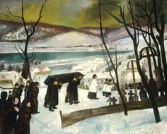 Funeral in Zebegény, 1928 Oil on  canvas