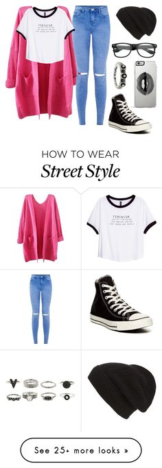 """Street style"" by josie-posie on Polyvore featuring H&M, Converse, Phase 3 and Lipsy"