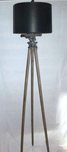 Diy industrial floor lamp with repurposed vintage surveyors tripod vintage c1930s surveyor tripod floor lamp industrial david white repurposed diy solutioingenieria Choice Image