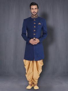 Indo Western With Patiala | Designer Sherwani | Dulha Collection For Men Online…
