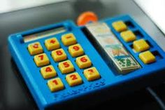 Fisher Price grocery shopping toy. Must find basket and wallet that went with it!
