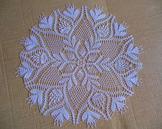 Round Crochet bag Etsy :: Your place to buy and sell all things handmade Crochet Motif Patterns, Crochet Lace Edging, Crochet Round, Filet Crochet, Crochet Flowers, Crochet Stitches, Knit Crochet, Crochet Placemats, Crochet Dollies