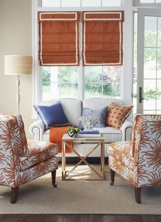 For the love of orange! Love this from Calico Corners