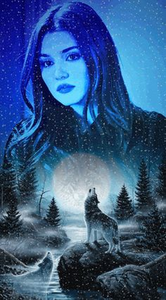Photo effects combo by Elizabeth Cromwell on Photo Lab Wolf Images, Wolf Photos, Lone Wolf Quotes, Scary Wallpaper, Wolves And Women, Wolf Spirit Animal, Wolf Howling, Beautiful Gif, Fantasy Warrior