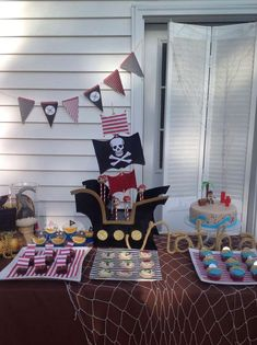 Awesome pirate birthday party! See more party ideas at CatchMyParty.com!