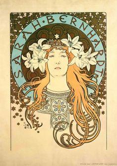 Sarah Bernhardt as La Princesse Lointaine: poster for 'La Plume' magazine (1897)