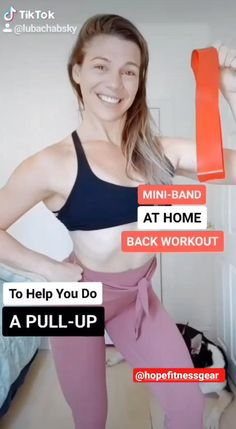 Fitness Workouts, Gym Workout Tips, Fitness Workout For Women, Workout Challenge, Workout Videos, Leg Workout With Bands, Back Workout Women, Workout Routine For Men, Exercise Bands
