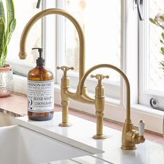 1307 Perrin & Rowe Parthian Mini Instant Hot Water Kitchen Tap - Just Perrin Water Faucet, Water Tap, Kitchen Taps, Kitchen And Bath, Condo Kitchen, Butler Sink, Brass Tap
