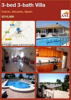 3-bed 3-bath Villa in Catral, Alicante, Spain ►€215,000 #PropertyForSaleInSpain