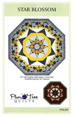 Star Blossom By Blanchard, Laura  - Finished Size 54in x 54in Make this octagonal beauty for your wall, table, or holiday tree.