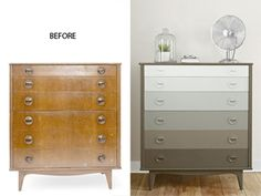 Awesome dresser makeover from Get the how-to!