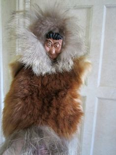 Eskimo Fur Doll Puppet  American Native by JewelsOfHighElegance, $12.75