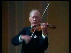 """Jascha Heifetz plays Rondo (from Serenade No. 7 """"Haffner"""", K. 250) by Mozart. The King of the Violin, Heifetz, in his late 70s here. Incredible."""