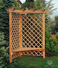 Backyard gazebo lattices 43 new Ideas Backyard Projects, Outdoor Projects, Garden Projects, Privacy Landscaping, Outdoor Privacy, Backyard Gazebo, Pergola Patio, Pergola Ideas, Patio Design