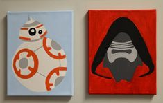 Star Wars Canvas Painting and Kylo Ren - Ideas of Star Wars Kylo Ren - Star Wars Canvas Painting and Kylo Ren by CLinDesigns on Etsy Disney Paintings, Cute Paintings, Kids Canvas, Canvas Art, Canvas Ideas, Painted Canvas, Cavas Painting, Pokemon Painting, State Canvas