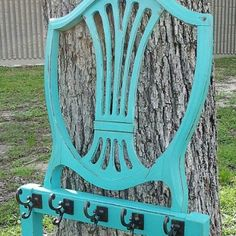 7 Creative Things to Do With Old Chairs. Our turquoise chair back coat rack is featured in Good Housekeeping!