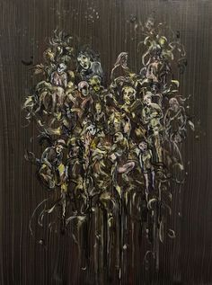 Skylarking. Jayne Anita Smith Skylark, Wreaths, Halloween, Plants, Paintings, Decor, Decoration, Door Wreaths, Paint
