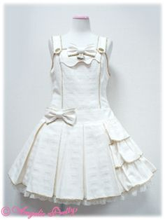 Melty Royal Chocolate Low Waist Jumperskirt in ivory, Angelic Pretty 2013