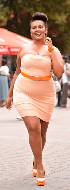 Orange  #plus size Fashion Inspiration