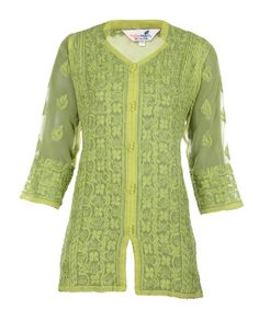You can never go wrong with this  chikankari tunic crafted using pure cotton…