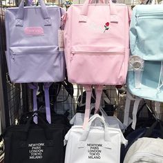 Cute pastel bags from Japanese brand WEGO Perfect for summer! ☁️ Also we're curious.. what's your favorite fashion store in Tokyo / Japan?