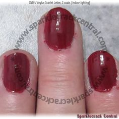 "CND's Vinylux Scarlet Letter (145) - the quintessential ""red nail polish"" shade"