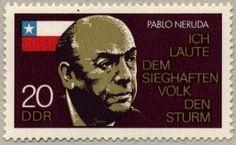 Resultado de imagem para selo de  Pablo Neruda