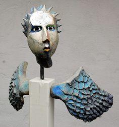 Blue - man - bird - fenix - Fagel Fenix II - Gitte Lind