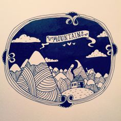 Mountains...Doodle a day project #mountains #illustration