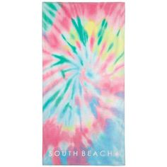 f70e71b5307 Ewa South Beach Tie Dye Velour Beach Towel in Multi Pastel Tie Dye