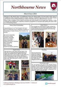 have you seen the newsletter of Northbourne UK boarding school? check it out! http://best-boarding-schools.net