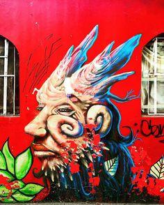A faun in the city ... Follow us @arty.city #santiago #streetstyle #streetart #arteurbano #arte #barrioyungay