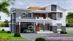 Kerala home design and floor plans: 260 square meter modern villa Small Modern House Plans, Beautiful House Plans, Contemporary House Plans, Dream House Plans, Bungalow House Design, House Front Design, Small House Design, Modern House Design, 30x40 House Plans