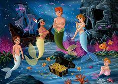 Disney Pixar, Walt Disney, Disney And Dreamworks, Disney Love, Disney Magic, Disney Animation, Mermaid Disney, Mermaid Princess, Beatrix Potter