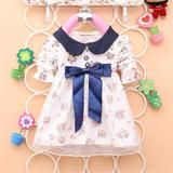 Today's Fashion Simply Cute Baby Girls Cotton Big Bow Floral Dress – Babymoore & Co