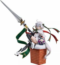 · Would you like to own one anime Good Smile Fate/Grand Order Lancer/Jeanne D'Arc Figure? Come here!  · Add cute features to your room with these gorgeous figure! · Material: Finished PVC Coating. · More Harajuku fashion goods, as well as all kinds of anime stuff Jeanne D'arc, Statues, Gilles De Rais, Fate Grand Order Lancer, Pvc Paint, Theme Anime, The Originals Characters, Thing 1, Cafe Style