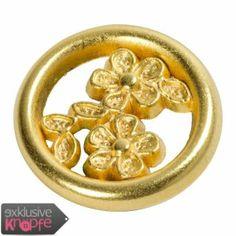 exklusive-knoepfe.de - Goldener Metallknopf - innen Blumenform