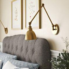 Ideas for bedroom lighting sconces bedside lamp Bedside Lighting, Wall Sconce Lighting, Wall Sconces, Bedside Wall Lights, Wall Mounted Bedside Lamp, Modern Bedside Lamps, Modern Bedroom Lighting, Modern Lamps, Hanging Lamps