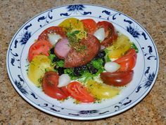 Shawna's Food and Recipe Blog: Salade of Tea Spice Smoked Cured Moonfish, Braised Black Trumpets and Heirloom Tomato aux Candied Buddha's Ha...