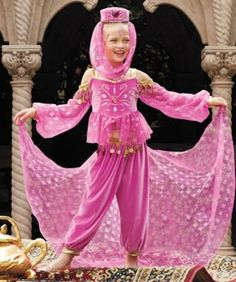 arabian genie girls costume - Only at Chasing Fireflies - The appearance of your beautiful genie conjures up images of ancient lands, flying carpets and magic lamps.
