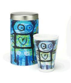 Design by Poul Pava Porcelain, Mugs, Tableware, Illustration, Design, Products, Art, Art Background, Porcelain Ceramics