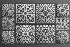 Grey Islamic Seamless Pattern Set 2 - Patterns