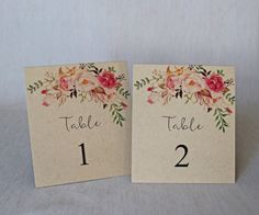 Display these beautiful handmade rustic floral table numbers are your wedding. Rustic Table Numbers, Wedding Table Numbers, Floral Wedding, Rustic Wedding, Our Wedding, Wedding Stationary, Wedding Invitations, Modern Table, Wedding Decorations
