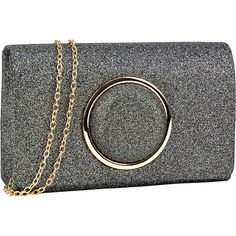 c9df8fc8dffb Dasein Glitter Frosted Evening Clutch - Grey - Clutches (115 DKK) ❤ liked on