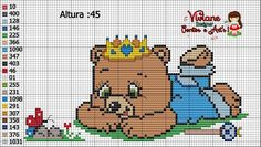 Viviane Points and Art's Baby Cross Stitch Patterns, Cross Stitch Baby, Cross Patterns, Baby Embroidery, Pixel Art, Needlework, Diy And Crafts, Mickey Mouse, Cute Animals