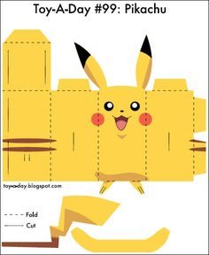 The Printable Pdf Pattern For Building Pokemon Paper Toy Pikachu Pikachu, Pokemon Birthday, Pokemon Party, 5th Birthday, Origami, Pokemon Craft, Paper Art, Paper Crafts, Toy Craft