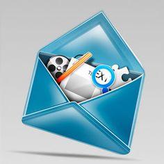 Stylish Mail Icon