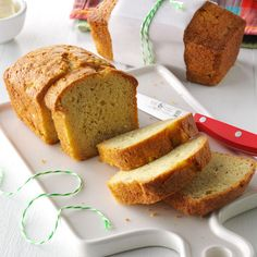 Autumn Pear Bread Recipe -Pears give these little loaves delicious flavor and…