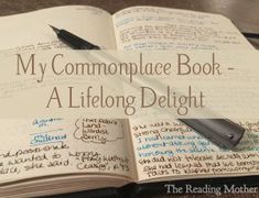 My Commonplace Book – A Lifelong Delight – The Reading Mother Nature Journal, Journal Prompts, Journal Notebook, Journal Ideas, Art Journals, Creative Journal, Journal Cards, Jessica Jones, Moleskine